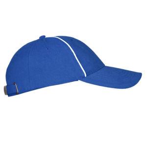 Бейсболка велюровая с оконтовкой синяя фото