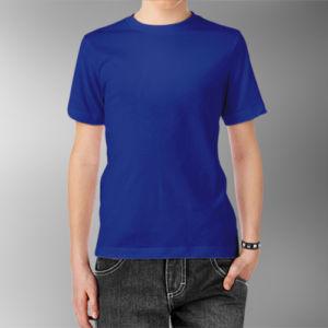 Детская футболка хлопок синяя фото