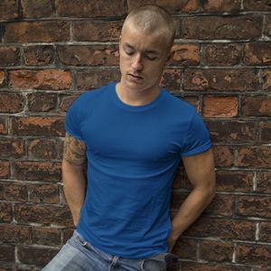Мужская футболка стрейч синяя фото