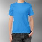 Детская футболка хлопок голубая