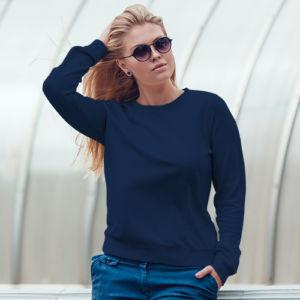 Женский свитшот темно-синий фото