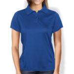 Женская рубашка-поло синяя