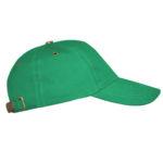 Бейсболка с металлической застежкой зеленая