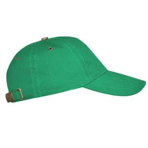 Бейсболка с металлической застежкой зеленая фото