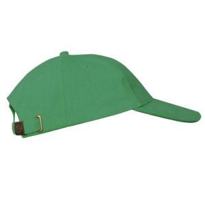 Бейсболка велюровая классическая зеленая фото
