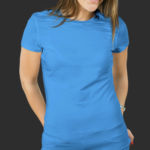 Женская футболка хлопок голубая