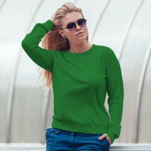 Женский свитшот зеленый фото