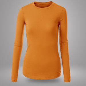 Женский лонгслив оранжевый фото
