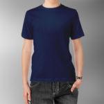 Детская футболка хлопок темно-синяя