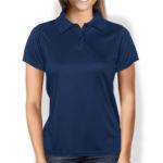 Женская рубашка-поло темно-синяя