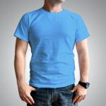 Мужская футболка хлопок голубая