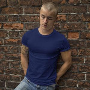 Мужская футболка стрейч темно-синяя фото