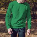 Мужской свитшот зеленый
