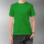 Детская футболка хлопок зеленая