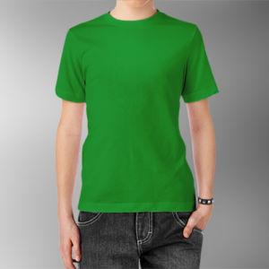 Детская футболка хлопок зеленая фото