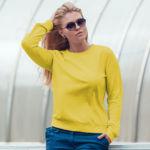 Женский свитшот желтый