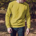 Мужской свитшот желтый