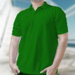 Мужская рубашка-поло зеленая