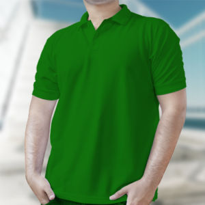 Мужская рубашка-поло зеленая фото