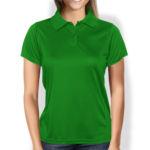 Женская рубашка-поло зеленая