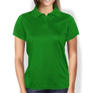 Женская рубашка-поло зеленая фото