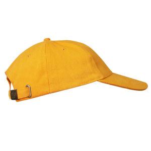 Бейсболка велюровая классическая желтая фото