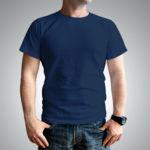 Мужская футболка хлопок темно-синяя