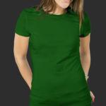Женская футболка хлопок зеленая