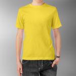 Детская футболка хлопок желтая