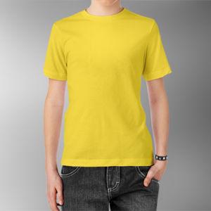 Детская футболка хлопок желтая фото