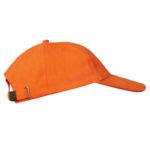 Бейсболка велюровая классическая оранжевая