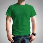 Мужская футболка хлопок зеленая