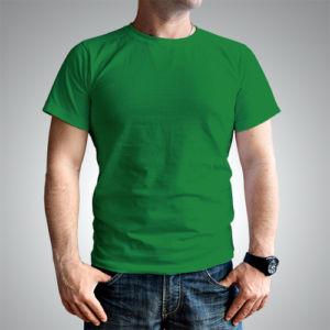 Мужская футболка хлопок зеленая фото