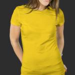Женская футболка хлопок желтая