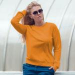 Женский свитшот оранжевый