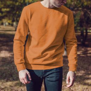 Мужской свитшот оранжевый фото