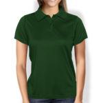 Женская рубашка-поло темно-зеленая