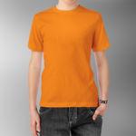 Детская футболка хлопок оранжевая