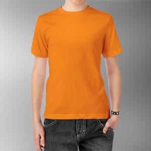 Детская футболка хлопок оранжевая фото