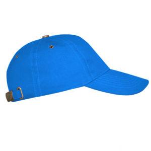 Бейсболка с металлической застежкой голубая фото