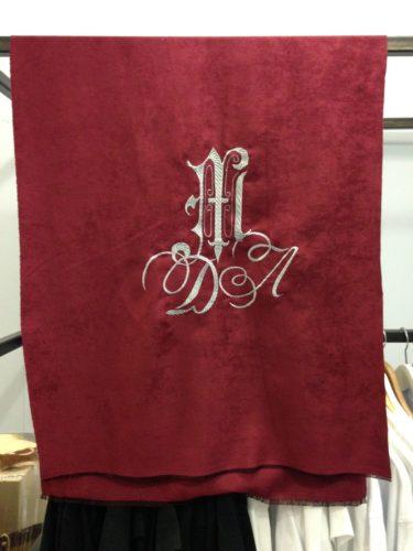 Вышивка на ткани на заказ пример 1