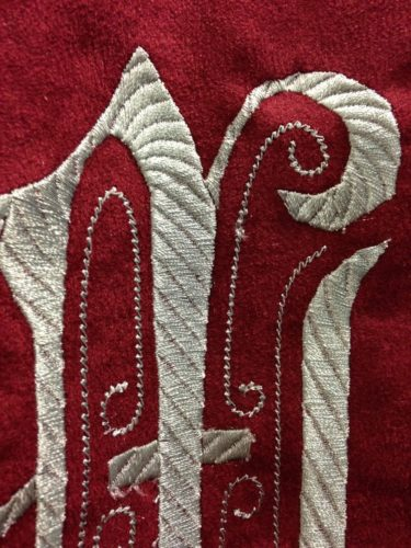 Вышивка на ткани на заказ пример 2