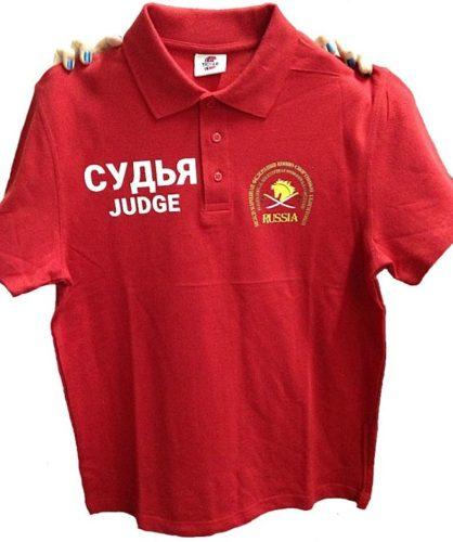 Печать на рубашках поло в Москве пример 1