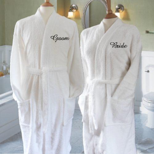 Вышивка на халатах на заказ пример 1